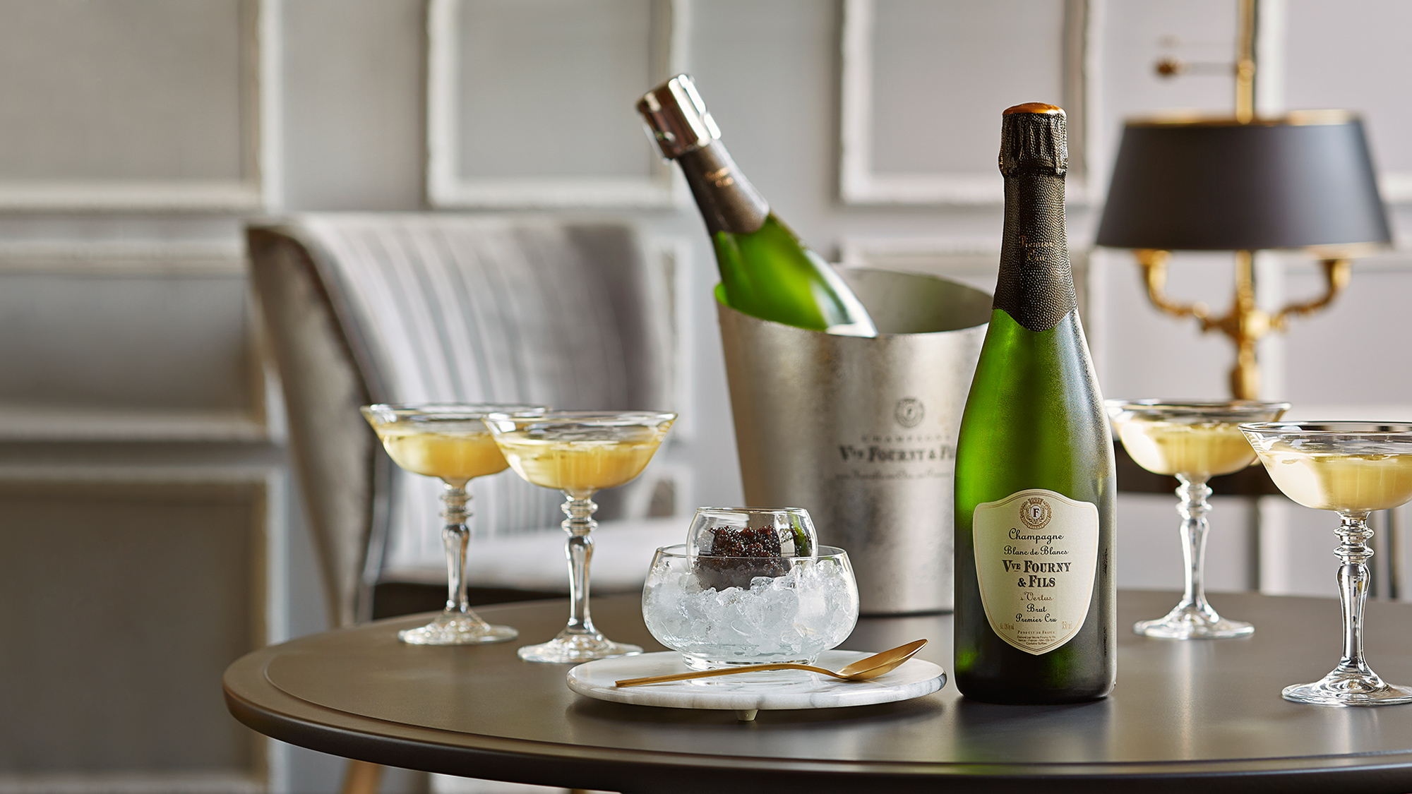 Decadent Veuve Fourny and Fils Champagne with Caviar