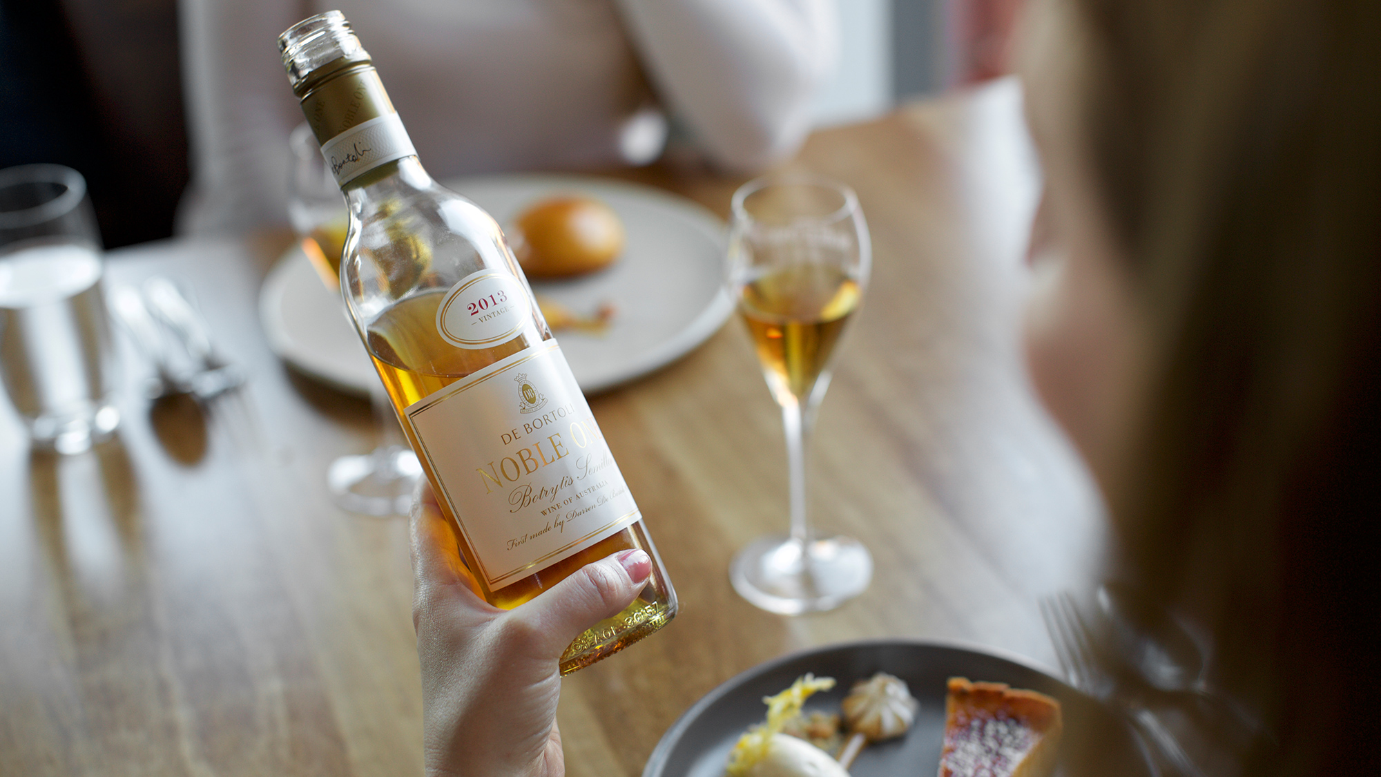 Noble One Botrytis Semillon matches perfectly with creamy desserts
